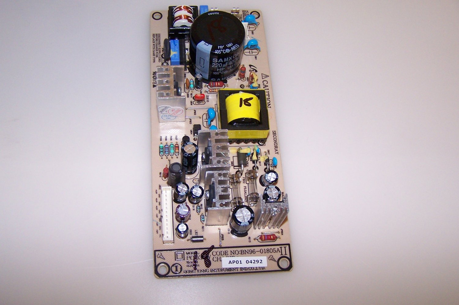 BN96-01805A Power Supply Board - Auxiliary for SAMSUNG HP-R4252