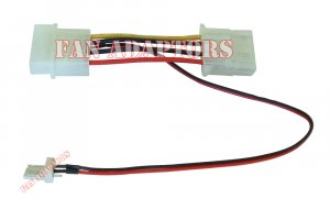 New 3-Pin to 4-Pin Dual Molex Power Fan Connector Cable