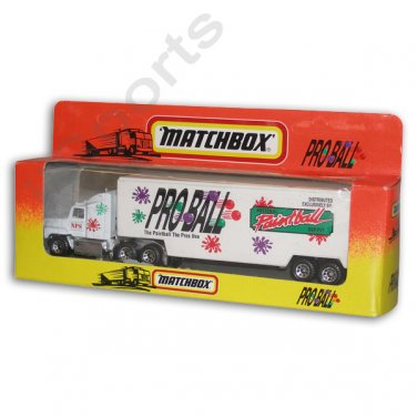 YZ2015A PROBALL Paintball Matchbox Toy Collectible Semi Tractor Trailer Ford Aeromax NIB