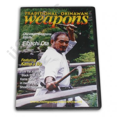 VD6798A Traditional Okinawan Weapons Kama Bo staff Training DVD Eihachi Ota karate budo