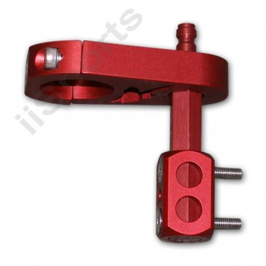 XP5004A-SR Paintball KAPP Stubby Drop Zone 2 HPA Bottomline Cradle RED dropzone forward FS