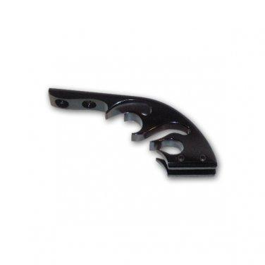 "YZ2075A-B 5"" 3D Paintball Gun Flame HPA CO2 Rail Bottomline Drop Forward Cradle Arm BLACK"