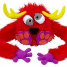 YK0014A-RED Hugalopes Fuzzy Hat Puppet Monster Dizzy Antlers RED funny Mix Match Parts unisex cap
