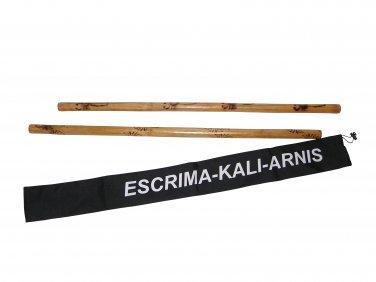 WF0530P Escrima Kali Arnis Stick Doce Pares Burned Rattan Set