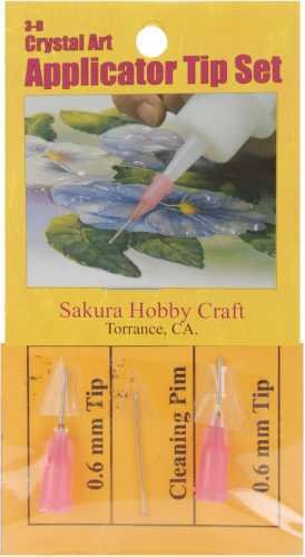 Sakura 3D Crystal Lacquer 6 NEON Color Applicator Pen Set 03005 hobby craft