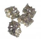 YK0030A 4 Fancy Dining Dinner Cloth Metal Napkin Ring Holder Set Grape/Leaf design
