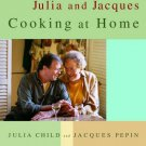 Z0401  Julia Child & Jacques Pepin Cooking at Home Book hardcover textbook