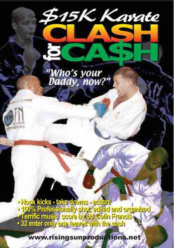 VD7064A $15K Karate Clash for Cash DVD Joe Long 32 fighters sparring kumite 2 hrs