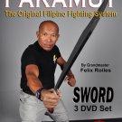 VD5110A  3 DVD Set Pakamut Filipino Martial Arts Sword Fighting System Felix Roiles kali