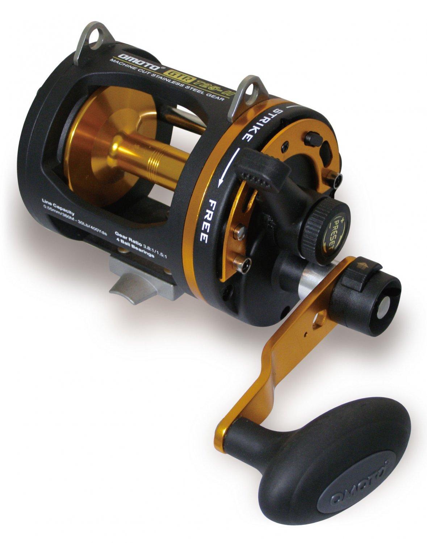 Yz0067a t20 ii omoto gtr 2 speed graphite lightweight reel for Bottom fishing reels