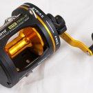 YZ0071A  T25L-II Omoto DELUXE GTR 2-Speed Graphite Reel Level Wind Ocean trolling fishing