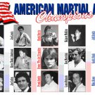 GP0052A  15 American Martial Arts Champions from 1960s 1970s 1980s Display Plaque 11x17