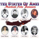 GP0053A  15 USA Martial Arts Pioneers Demura Lee Rhee Kubota Urban Parker Plaque 11x17