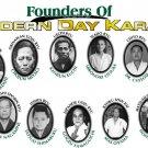 GP0054A  11 Founders of Modern Karate Funakoshi Mabuni Yamaguchi Oyama Display Gift 11x17
