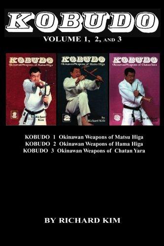 BO9932A  Kobudo #1 #2 #3 Okinawan Weapons Sai Tonfa Kama Paperback Book Richard Kim
