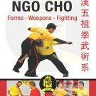 BO2020A  Kong Han Ngo Forms Weapons Fighting Kung Fu paperback book Five Ancestor Fist