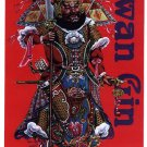 GP0042A  Chinese General Kwan Gin God of Martial Arts Display Wall Plaque 11x17 wealth