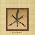BO1999A  Combat Machete Blade Weapon Book Marc Lawrence AUTOGRAPHED!