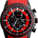 AW0155A  CHALK Quincy BLZR 46mm Watch Black Stainless Steel IP Case Red Black Accent Dial