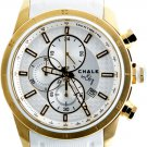 AW0156A  CHALK Quincy 3848 46mm Watch Watch Stainless Steel Gold IP Case White Dial