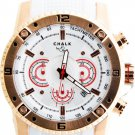 AW0157A  CHALK Quincy MIAMI Watch 46mm Watch Watch Stainless Steel Rose Gold IP Case White Dial