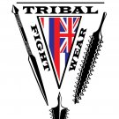 AT0605A  Hawaiian Tribal Fight Wear Martial Arts T-Shirt Gray 2XL weapons islands tee