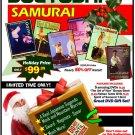 VD9904P  Sueyoshi Samurai Gift Set 5 DVDs + Art of War, Samurai T-Shirt, Tanto $195 Value