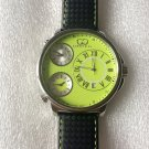 CC-BT CLASSIC-GRN-SS  Curtis & Co Big Time Classic 54mm 3-Time Stainless Steel Green Watch  NO BOX