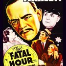VD9054A  The Fatal Hour DVD - 1940 Boris Karloff Murder Mystery B/W Marjorie Reynolds