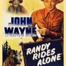VD9063A  Randy Rides Alone DVD - 1934 John Wayne B/W Classic Western Action movie