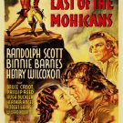 VD9061A  Last of the Mohicans DVD - 1936 B/W Revolutionary Frontier action movie