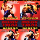 VD5171P 4 DVD Set Muay Thai Boxing Fighting Techniques combos counters DVD Vut Kamnark