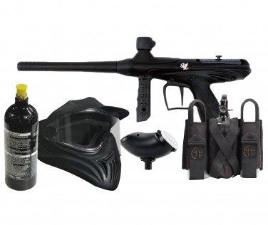 DXP0001P  Deluxe Tippmann Black Composite Gryphon Set 20oz tank, goggles, loader, slam pak