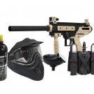 DXP0003P  Mil Sim Paintball Semi Auto Cronus Gun Set 20oz tank, goggles, loader, harness