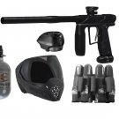 DXP0009P  Tournament Empire Axe Pro Paintball Gun Set HPA tank, goggles, loader, harness
