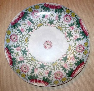 ANTIQUE RUSSIAN PORCELAIN GARDNER BIG WALL PLAQUE PLATE