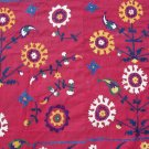 ANTIQUE UZBEK SUZANI SILK EMBROIDERY, 1920