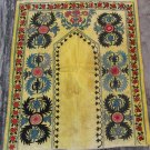 Antique Uzbek Suzani, Bukhara, Samarkand, prayer rug, 1920
