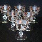 "6 Libbey Stem Rock Sharpe GOLDEN FOLIAGE 3 7/8"" Wine Cocktail Glasses Frosted"