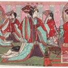 Set of 2 Vintage JAPAN Japanese Art Postcards Woodblock Print #EAW2