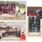 Lot of 3 Antique Japanese Embossed Postcards SHIOGAMA Shrine #EA65