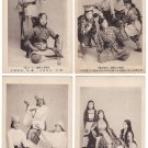 Set of 4 Antique JAPAN Japanese Postcards  TAKARAZUKA Dancers Actresses #EG64