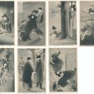 Lot of 10 Antique JAPAN Japanese Art Postcards Old Novel#EA79