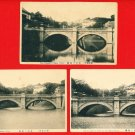 Lot of 3 Antique JAPAN Japanese Postcards The Imperial Palace Nijubashi Bridge, Tokyo #EC49