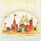 Vintage JAPAN Japanese Art Postcard EXPO Poster Image #EOE1