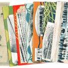 Set of 6 Antique JAPAN Japanese Postcards w/ Folder Electric Power Company #EOA1