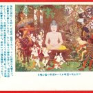 "Set of 5 JAPAN Japanese Postcards w/ Folder Buddhism Buddha Tale Story ""Satori"" #EO7"