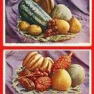 Lot of 2 Vintage Postcards FORMOSA Taiwan Under Japanese Rule Fruits #EF11