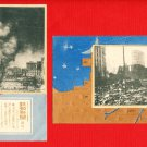 Lot of 2 JAPAN Japanese Postcards San Francisco Earthquake in 1906 #EO13