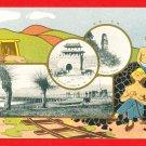 JAPAN Japanese Postcard Fushun China Coal Mine Hun River Castle Lama Pagoda #EF43